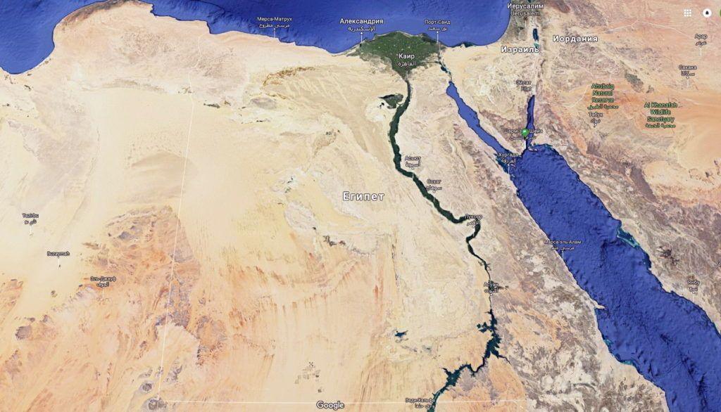 туристична карта єгипту