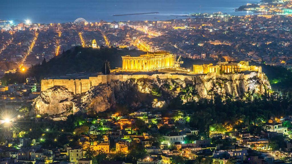 Афіни ввечері