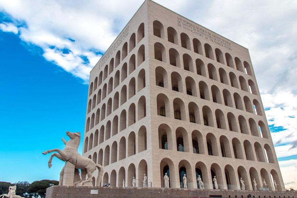 квадратний колізей рим італія