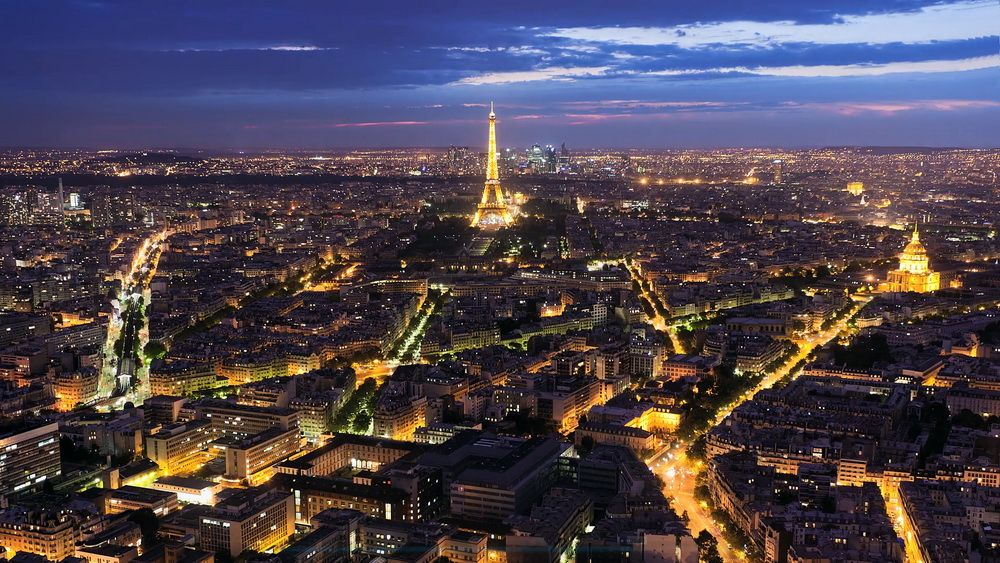 Нічний Париж