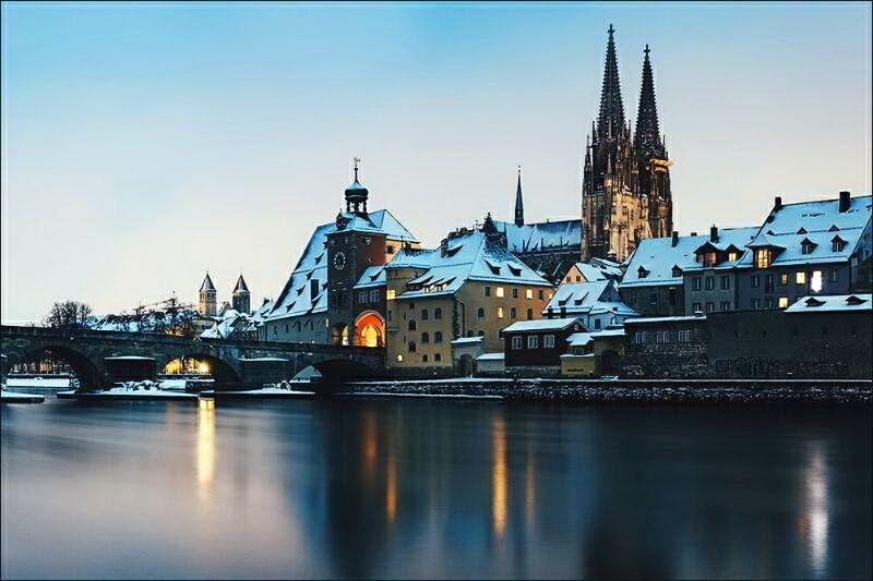 Регенсбург взимку