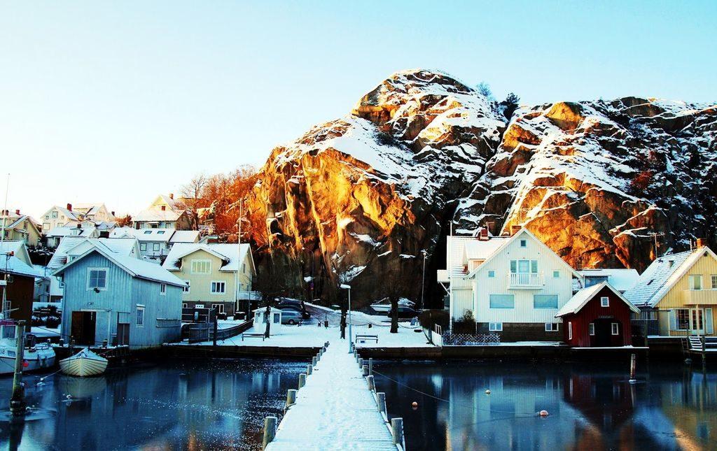 Зима в Швеції