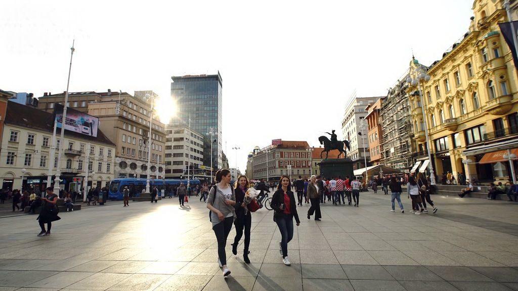 У центрі Загреба