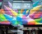 У київському метро з'явився розфарбований потяг