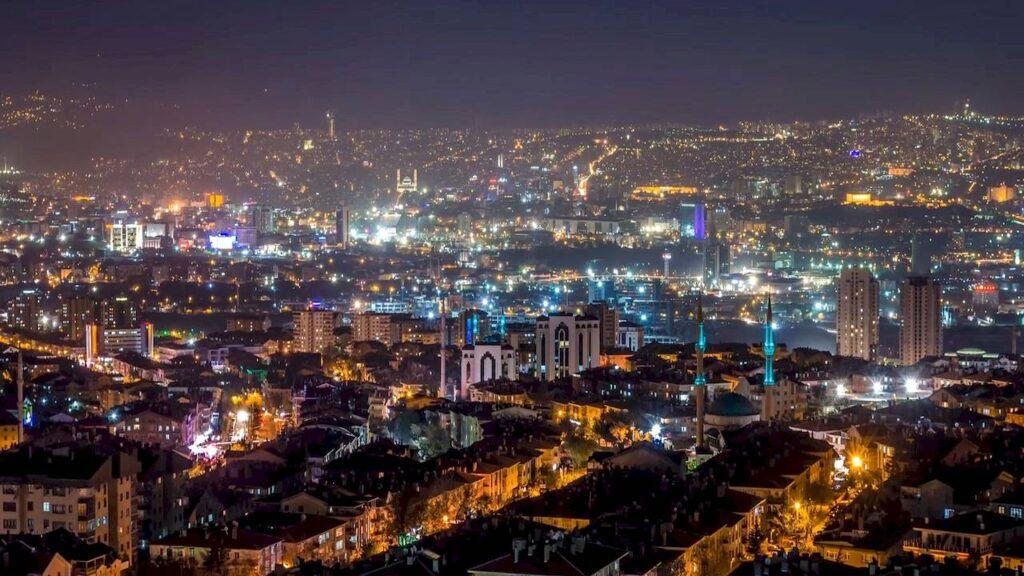 Анкара вночі